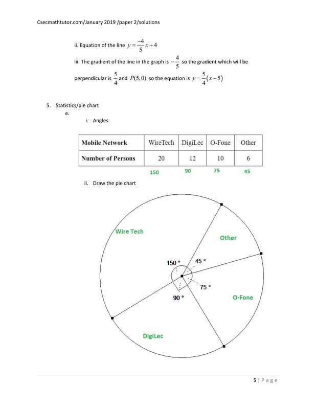 january 2019 paper 2 solutions - CSEC Math Tutor